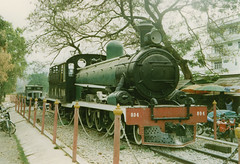 Thailand - Burma Railway - Kanchanaburi (railasia) Tags: heritage thailand nineties kanchanaburi srt publicdisplay steamloc burmarailway metergauge exfmsr