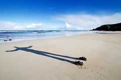 Shadow Shoes (Colin Cameron ~ Photography ~) Tags: shadow beach isleoflewis garrybeach colincameron canon7d blinkagain