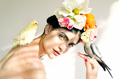 frida (Rodrigo Adonis) Tags: portrait birds photography photographer makeup frida fotgrafo kahlo rodrigoadonis