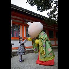 (Masahiro Makino) Tags: girl japan photoshop canon eos japanese kyoto shrine adobe   kimono tamron f28 lightroom shimogamo  1750mm 60d  tawawachan 20120303121025canoneos60dls640p