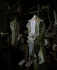 DSC01668c (StevenAlvarado) Tags: abandoned hospital scary dress ripped clothes torn