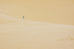 Solitude (-clicking-) Tags: yellow kids walking children landscape sand solitude alone child walk unique dunes vietnam lonely minimalist whitesanddunes minimalim phanthit flickrdiamond vietnameselandscape butrng minimalistperfection