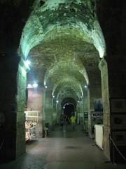 Passage in basement halls, Palace of Diocletian, Split, Croatia (Paul McClure DC) Tags: architecture coast roman croatia historic split adriatic hrvatska dalmatia june2010