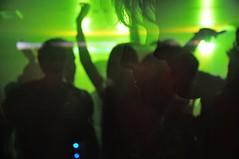 Shadows and Dancers (Ralph-Thompson) Tags: lighting uk light party people music motion colour strange club night contrast dance nikon dj shadows faces dancing bright glasgow vibrant gig crowd nightclub celebration nighttime r nightlife doubleimage freelance youngphotographer ralphthompson