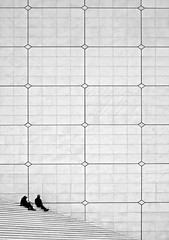 Sitting there - Grand Arche Paris (1982Chris911 (Thank you 1.250.000 Times)) Tags: blackandwhite bw white black paris architecture ladefense structure krieglsteiner christiankrieglsteiner christiankrieglsteinerphotography