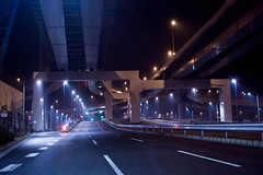 untitled (Noisy Paradise) Tags: road city longexposure light urban japan night tokyo highway motorway  foveon  drivingthroughthenight sigmadp2