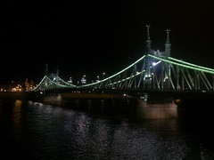 Bridge over Danube river at Budapest