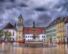 BRATISLAVA, Old Town Hall (Cat Girl 007) Tags: architecture colorful cloudy gothic stormy historic rainy pastels slovakia baroque bratislava hdr nationalgeographic medievel oldtownhall explored renaissancearchitecture artistictreasurechest photographymypassion architectureandcities