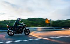 #089 Panning (Tristan#) Tags: road light honda ride motorbike riding motorcycle panning cb400