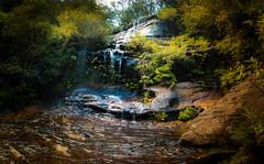 Lawson Waterfall HDR (SydneyLens) Tags: landscape waterfall sydney australia bluemountains falls newsouthwales lawson