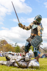 [2014-04-19@15.13.05a] (Untempered Photography) Tags: history costume fight helmet battle medieval weapon sword knight shield combat armour reenactment champions skirmish combatant chainmail canonef50mmf14 perioddress buckler platearmour gambeson mailarmour untemperedeye canoneos5dmkiii untemperedeyephotography glastonburymedievalfayre2014
