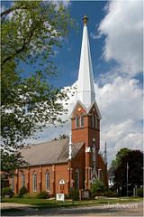 Emanuel United Church of Christ (John H Bowman) Tags: june manchester michigan churches canon1740l 2011 washtenawcounty greatskies june2011 emanuelunitedchurchofchrist churchofchristchurches