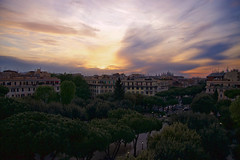 Highway to hell (samuel.milbert) Tags: sunset orange cloud rome roma architecture de soleil coucher di piazza nuages soir nuit