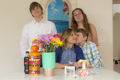 Mothers Day 2016 (aaronrhawkins) Tags: family flowers boy portrait girl kids pose children mom kiss colorful jessica sweet joshua teenagers jackson celebration gifts presents mothersday kellie aaronhawkins