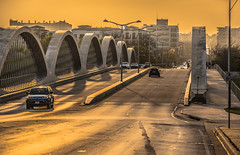 West 7th Street Bridge (Sky Noir) Tags: road city bridge golden texas fort tx hour ft worth dfw lonestarstate