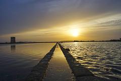 Salinas (Matrec) Tags: sunset sea panorama sun clouds landscape nuvole mare sale salt tramonti saline sicilia trapani