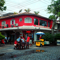 Street in Buzios, RJ, Brazil (CarlosMF) Tags: brazil riodejaneiro buzios rolleiflex28f zeissplanar2880 kodakportra400colornegativefilm