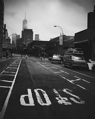 Going The Distance (lozadae12) Tags: street nyc newyorkcity blackandwhite ny newyork manhattan monochromatic freedomtower vsco oneworldtrade