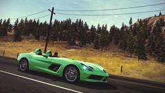 SLR Stirling Moss (polyneutron) Tags: trees motion green slr car photography automotive mclaren mercedesbenz videogame needforspeed supercar nfs hotpursuit stirlingmoss photomode hp2010