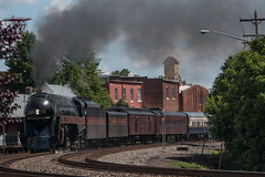 N&W 611 at Culpeper (Michael Karlik) Tags: city railroad station train virginia town nw ns norfolk culpeper steam southern western locomotive passenger piedmont excursion 611