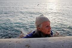 The old lady who came from the sea (yaya13baut) Tags: street sea woman mer color lady marseille fuji candid seagull streetphotography streetlife corniche fujifilm candidshot mditerrane candidstreet candidface fujix100s x100s fujifilmx100s