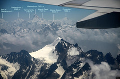 View from Air, Gasherbrum 1, Masherbrum and Chogolisa (Ali Usman Baig (Documenting Pakistan)) Tags: pakistan aerial aerialphotography chogolisa masherbrum gilgitbaltistan gahserbrum