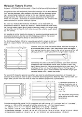 Instructions: Modular Picture Frame (Micha Kosmulski) Tags: origami modular unit instructions diagram cp creasepattern pictureframe frame corrugation michakosmulski tutorial