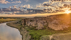 Things You Need (Wayne Stadler Photography) Tags: park travel camping sunset canada rock rural countryside afternoon country places roadtrip explore alberta sacred aboriginal prairies prehistoric formations writingonstone provincial writings southernalberta
