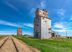 Dankin Grain Elevators (Pat Kavanagh) Tags: canada landscape prairie saskatchewan prairies sentinels grainelevators dankin vertorama vetorama