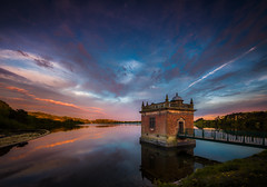 Youth in Retrospect (unciepaul) Tags: longexposure sunset detail water beautiful station contrast reflections evening colours tripod sunday may reservoir pump gentle swithland blueskyclouds lightroomhdr nikond800