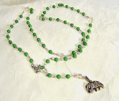2016 House Of Joris Jewelry (House Of Joris Jewelry) Tags: elephant green rosary pods jumbo filigree luckycharm rutilatedquartz grassgreen vintagebeads antiquedsilver genuinegemstones rosaryjewelry houseofjorisjewelry