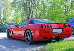 1997 Chevrolet Corvette (crusaderstgeorge) Tags: red cars chevrolet sweden 1997 sverige corvette classiccars sportscar americancars redcars americanclassiccars lvkarleby 1997chevroletcorvette crusaderstgeorge