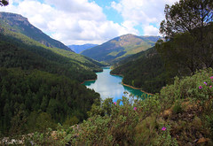 Embalse de Anchuricas at Sierra del Segura, Jan (Andalusia, Spain) (Sara C.M) Tags: espaa naturaleza nature water ruta ro river landscape andaluca spain agua europa europe hiking turquoise paisaje reservoir route views andalusia senderismo jan embalse segura vegetacin turquesa rosegura anchuricas canoneos550d efs1855mmisii embalsedeanchuricas