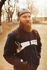 (Anton Pysanka) Tags: leica portrait man film 35mm beard voigtlander rangefinder agfa agfavista100 bearded nokton voigtlnder 3514 m4p noktonclassicsc