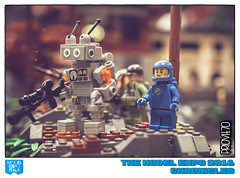 From the top of the hill (Priovit70) Tags: lego minifigures benny mrrobot allies hill liberation diorama wwii modelexpo2016 olympuspenepl7