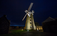 in the night (keith midson) Tags: heritage mill windmill night rural buildings dark evening still quiet farming calm tasmania agriculture flourmill oatlands callingtonmill