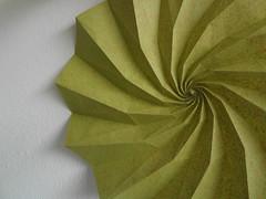 Spiral of Life (Dasssa) Tags: life green paper spiral origami handmade corrugation dodecagon dasssa dasaseverova