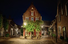 Once Upon A Time... (kjeldvdh) Tags: fairytail vibrant light lights licht lamp lamps spot romantic amersfoort netherlands nederland nikon night d5500 dutch dark darkness details depth serene calm calmed horizontal europe medieval architecture cobbles bike road pavement stone brick wood window utrecht stars story sprookje old tree leaf saturated summer cool sky isolated city centre reflection rain after blue red green yellow orange brown dim plant plants outside long exposure contrast decay colourful colorful