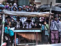 Marimba bajo la lluvia / Marimba Under the Rain (drlopezfranco) Tags: people music rain lluvia guatemala personas musica tradition tradicin marimba todossantos instrumento dadelossantos hueheutenango cuchumatn