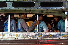 Those who build homes away from home (Thibaud Saintin) Tags: work thailand evening bangkok labor transportation worker tiredness commuters constructionwork krungthep totallythailand