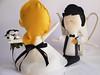 Wedding Dolls - glamour bride and groom 1 (Cromanticamente) Tags: kids doll craft felt softie feltro bambole childfriendly kidsdecor bamboline humanfiguredoll