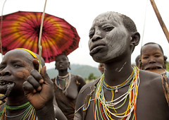 Kibbish Surma tribe women - Omo Ethiopia (Eric Lafforgue) Tags: people colour face de outside outdoors la artistic portait headshot des ornament clay l omovalley bodypainting ethiopia rite bodymodification tete visage adornment pigments headandshoulders dehors omo eastafrica vallee ethiopie exterieur levre vueexterieure coloredpicture lipplug lipplate photocouleur 3137 peoplesuri valleedelomo regardantlobjectif lipdisc tribetribu surisuri piercedhole piercedlipornament teteetepaules colouredpicture labiallabretstretched liplevre etireelevre perceepierced lipornement perceesurmasuritributribetribu tribesurma surmasurma peoplepeuple suripeuple surmaargilefemme clotheshabit traditionnelpeuples omopeuple nomadepeuple pasteurspastoralist lookingatcameravillage kibbishplateau plateauplateaucontemplationpeinture corporelledecorativedecoratifdecorationornementtraditional