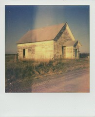 Old House Fairfield, IA 19 (IkeWink) Tags: old white house polaroid peeling paint iowa ia fairfield colorshade impossibleproject theimpossibleproject px680 sunautofcus660se