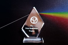 Day 74 of 366 For Simon (Chris Willis 10) Tags: light simon photo rainbow prism competition pinkfloyd trophy wishyouwerehere sait wps 366 photo366 simonsait warringtonphotographicsociety