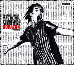 JUAN TOBARU - JOSE CARLOS FERNANDEZ. (juan_tobaru) Tags: street new york city nyc urban paris london art peru collage vintage la los stencil juan lima angeles jose carlos retro sur urbano futbol copa futebol libertadores corazon fernandez alianza comando tobaru