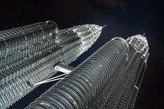 Petronas Tower (PiotrHalka) Tags: road street city travel night skyscraper lights asia sony south petronas towers icon east capitol malaysia kuala alpha kl lumpur a500 wwwpiotrhalkacom