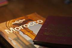 78/366: A solution. (Owen Audious) Tags: travel holiday book morocco lonelyplanet passport cantwait
