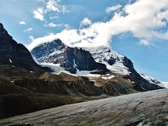 IMG_1737 (Lord Walt) Tags: park travel blue light sky canada mountains ice nature clouds canon landscapes daylight nationalpark scenery view country peaceful powershot historic glacier alberta vista daytime geology tranquil jaspernationalpark columbiaicefield canadianrockies athabascaglacier hwy93 theicefieldsparkway waltphotos lordwalt sx30is
