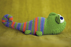 amgurumi chameleon (perlinavichinga) Tags: crochet amigurumi chameleon