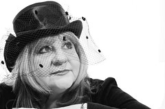My Mum!! (CatherineDellPhotography) Tags: portrait white black up hat eyes looking serious vale mum modelling